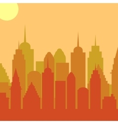 Morningt cityscape background City vector image vector image