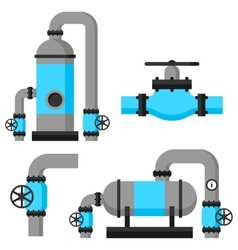 Natural gas heat exchanger control valves and vector image vector image