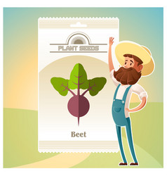 pack of beet seeds icons vector image