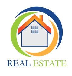 Real estate house vector image