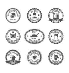 Restaurant label set vector image