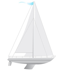 Sailing boat floating vector image