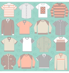 Seamless pattern with clothing for men vector