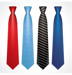 set of colorful neckties vector image vector image