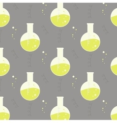 Test tube glassware chemistry pattern vector
