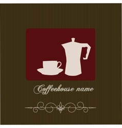 The concept of coffeehouse menu vector image vector image