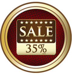 thirty five percent sale icon vector image vector image