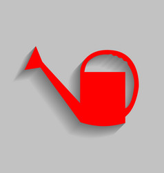 watering sign red icon with soft shadow vector image vector image