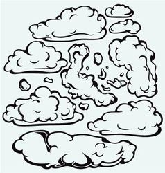 Sky with cloud closeup vector