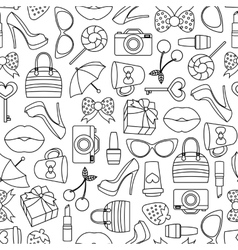 Pattern of glamor stickers and labeles vector