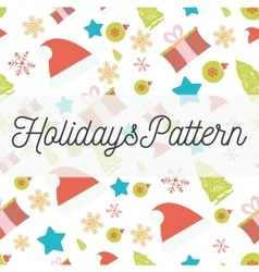 Holidays seamless pattern with christmas vector