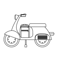 Isolated motorcycle design vector