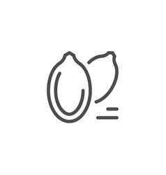 Seeds line icon vector