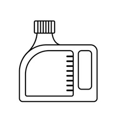 Blank plastic canister flat icon packaging for vector