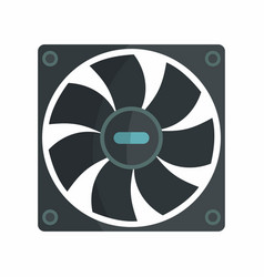 Flat hardware cooler icon for repair service vector
