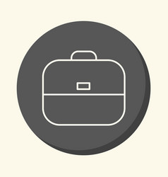 School bag round icon with the of vector