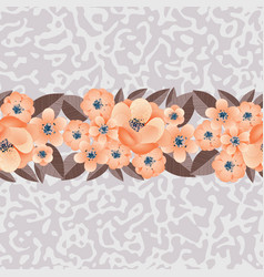 Seamless pattern of flowers on the background vector