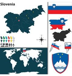 Slovenia map world vector