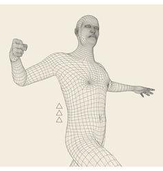 3d model of man geometric design technology vector