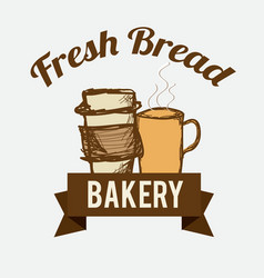 Fresh bread vector