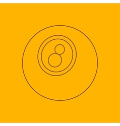 Eightball line icon vector