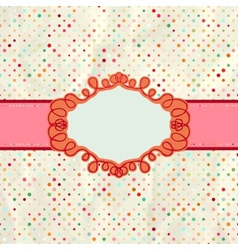 Vintage polka card vector