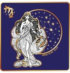 Horoscope Virgo zodiac sign vector image