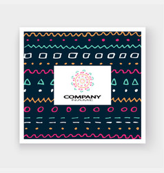Abstract pattern with color hand drawn strokes vector