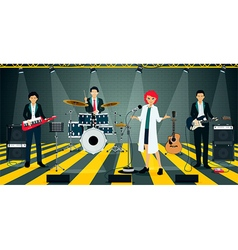 Bands in suit vector