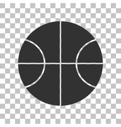 Basketball ball sign Dark gray icon vector image
