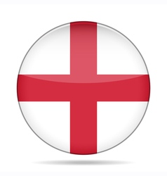 Button with flag of england vector