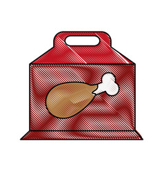 Chicken prey flat scribble vector