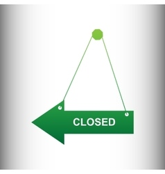 Closed sign green gradient icon vector