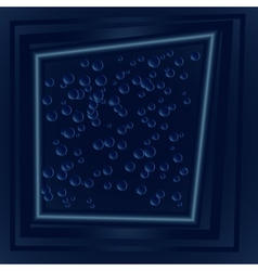 Dark blue drops frame vector