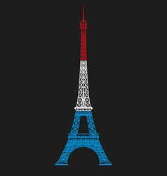 Eiffel tower line vector