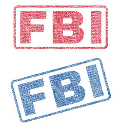 Fbi textile stamps vector