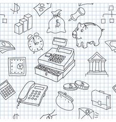 Finance seamless vector image