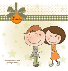 happy lovers couple vector image