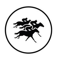 Horse ride icon vector image vector image