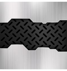 Industrial grunge metal steel wall gatel vector image vector image