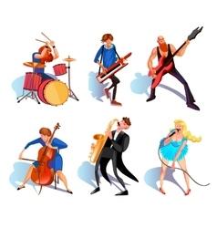 Musicians Cartoon Set vector image vector image