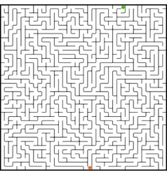 perfect maze vector image