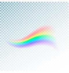rainbow icon abstract colorful spectrum of light vector image