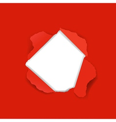 Red Torn vector image vector image