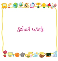 School work template vector