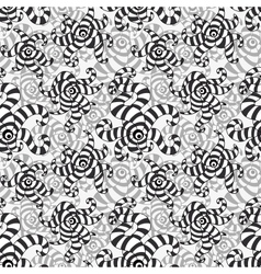Striped black and white forms vector image