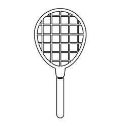 Tennis racquet black color icon vector