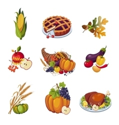 Thanksgiving Elements Set vector image