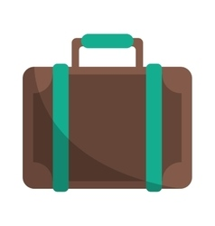 travel suitcase modern style eqipment vector image vector image