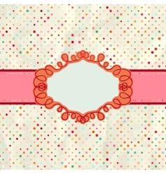Vintage polka card vector image